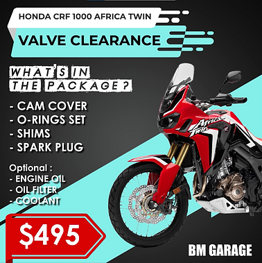 Valve Clearance package