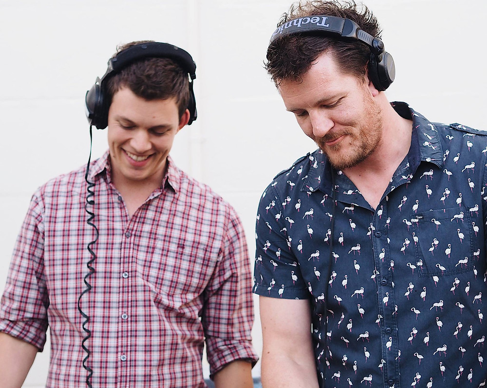 DJ Nick Dawson and Benny G from Adelaide DJ duo Funk Bros DJs