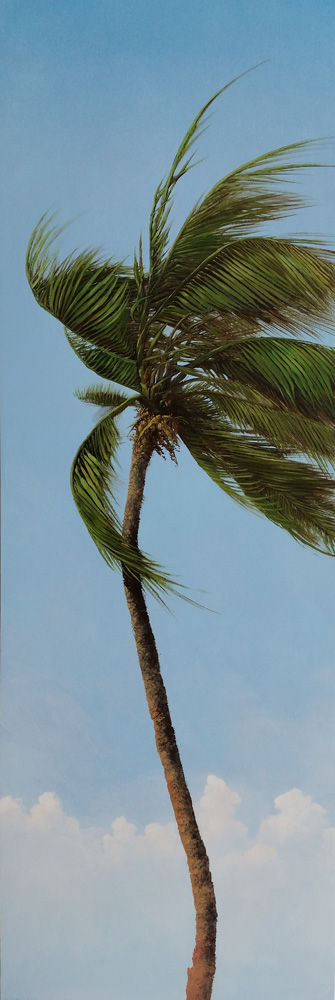 "Trade Winds, 2015, by Robert Marchessault, oil/panel, 60"" x 20"". Florida"