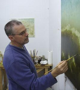 Robert Marchessault in the studio