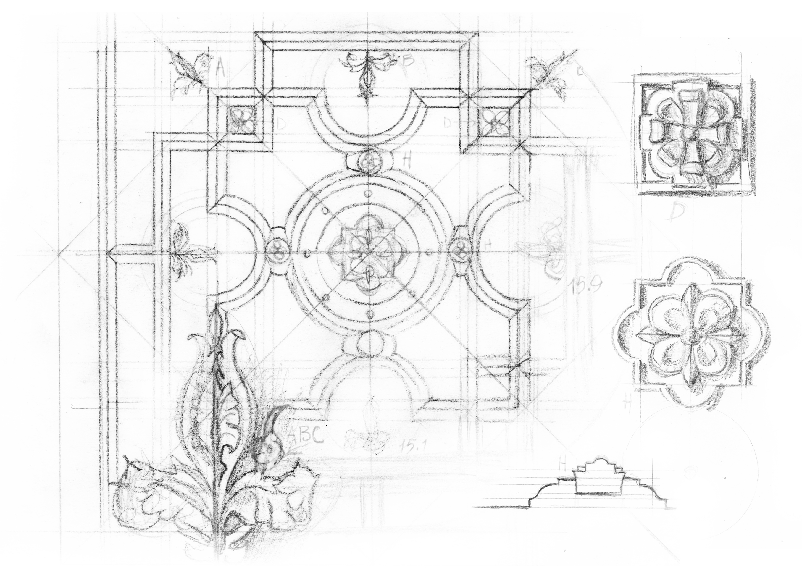 Ceiling 02 Rough Sketch - 02