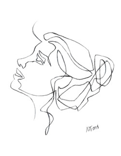 One Line art sketches