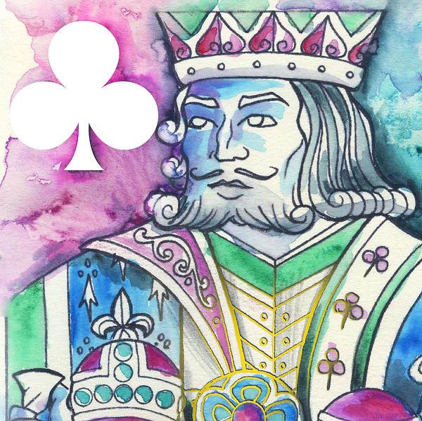 King of Clubs - Watercolour 01.jpg