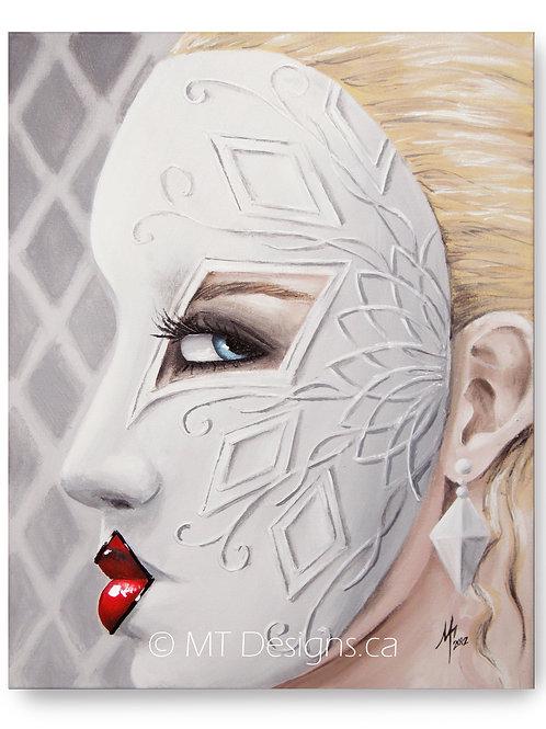 Masquerade Queen of Diamonds Art Print
