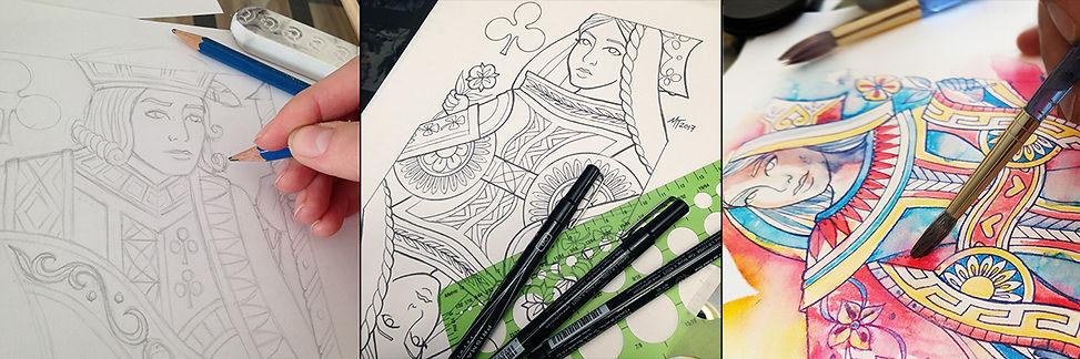MT Designs - Watercolor Cards process.jp