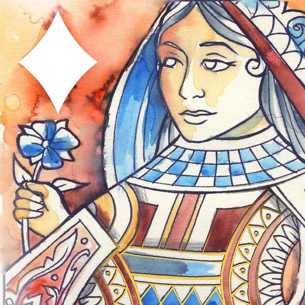 Queen of Diamonds - Watercolour 01.jpg