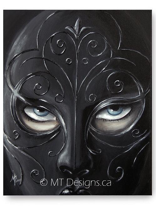Masquerade Queen of Clubs Art Print