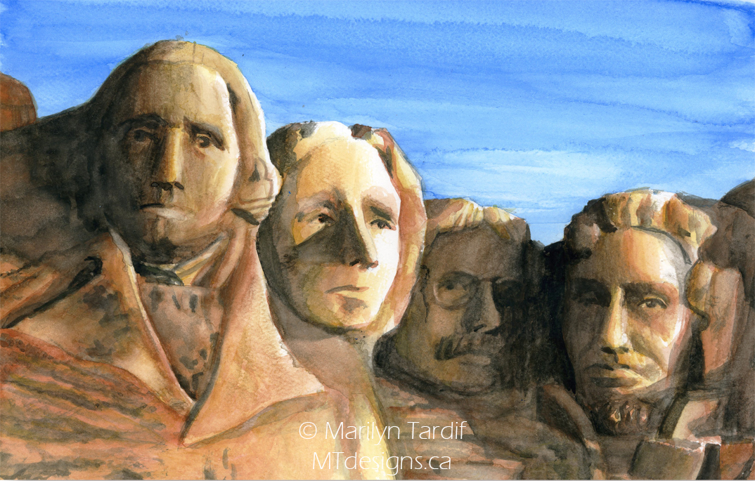 Mount_Rushmore_Watercolor_-_©_Marilyn_Tardif_-_MT_Designs_Art_Studio