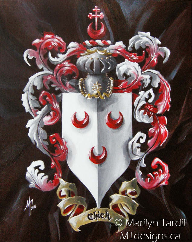 The_Chick's_Family_Crest_-_©_Marilyn_Tardif_-_MT_Designs_Art_Studio