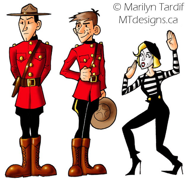 Mounties_and_Mimes_-_©_Marilyn_Tardif_-_MT_Designs_Art_Studio