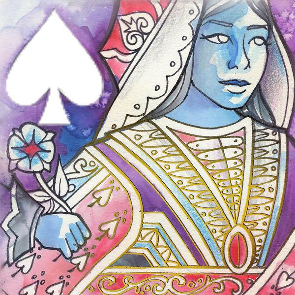 Queen of Spades - Watercolour 02.jpg