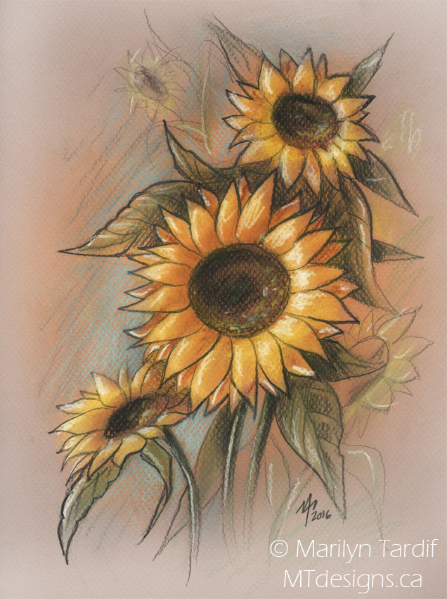 Fall_Sunflowers_-_©_Marilyn_Tardif_-_MT_Designs_Art_Studio