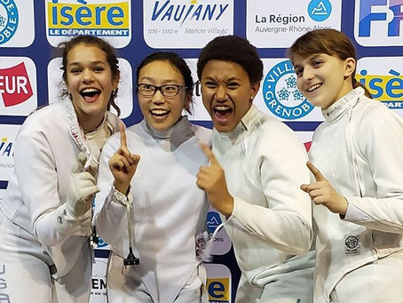 PRESS RELEASE: Loudoun Fencer Michaela Joyce brings home Gold Medal from World Cup in Grenoble.