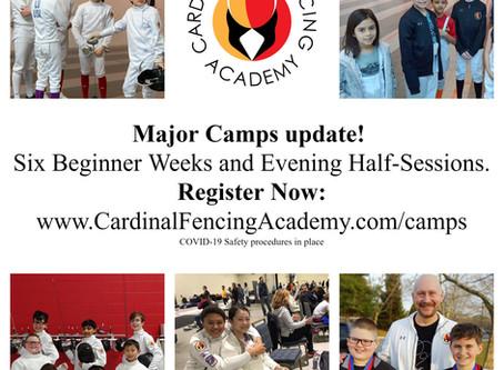 Major Summer Camps Update!