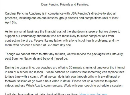The next month and beyond for CFA Clients