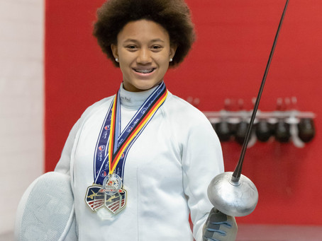 PRESS RELEASE: 01/19/2019 Sterling 14 year old fencer takes Silver in Under 20 Junior Olympics