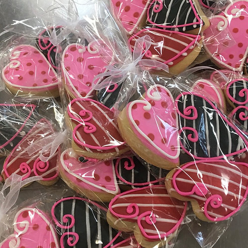 Mini Heart Sugar Cookie Trio