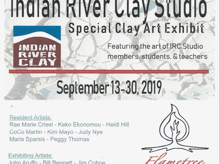 September 2019 - Indian River Clay Studio