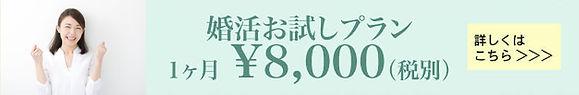 婚活お試しプラン1ヶ月8000円
