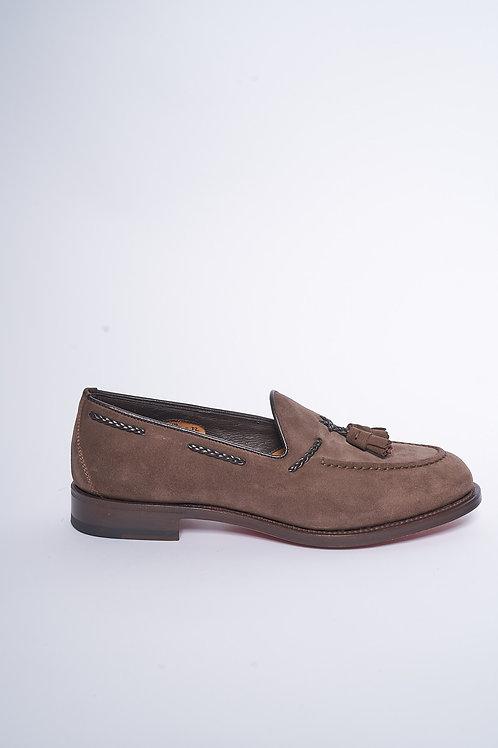 Santoni Loafer aus Veloursleder