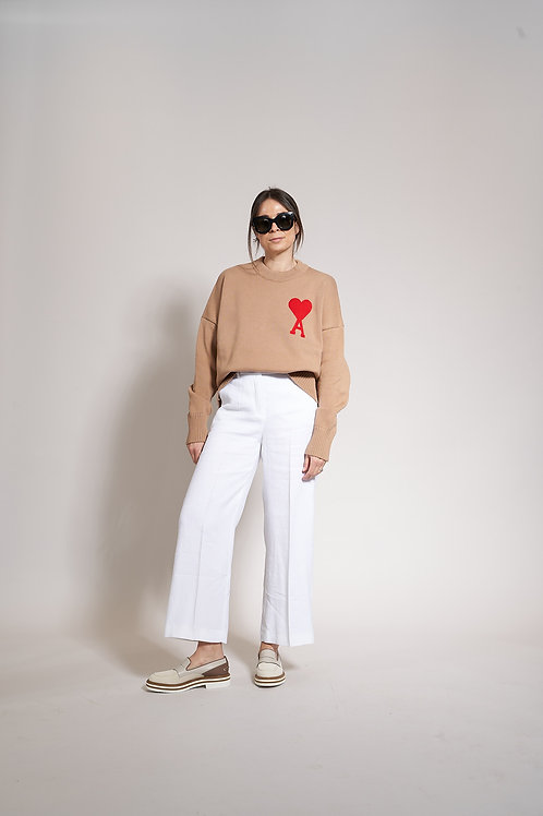 AMI Paris Oversize Crewneck Pullover