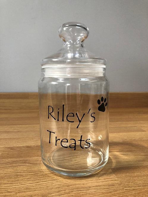 GLASS TREAT JAR