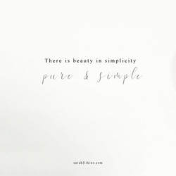 puire and simple