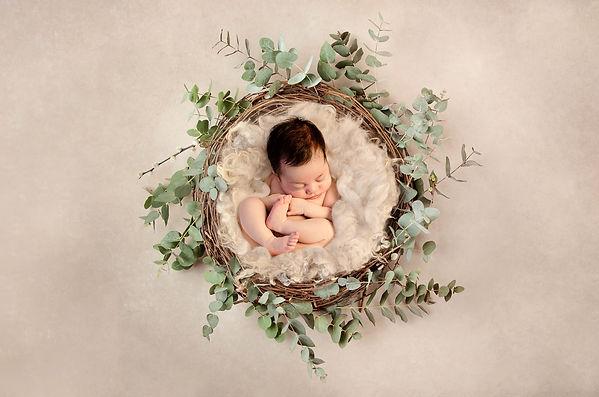 At home studio newborn photo shoot Essex