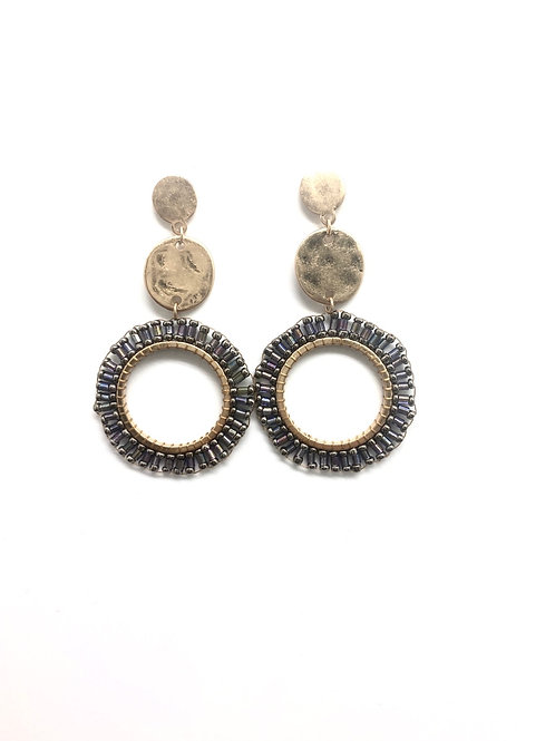 Pewter Hoops