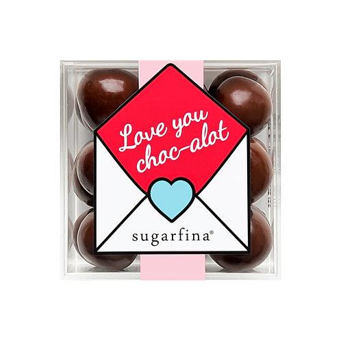 """Love You Choc-alot"" Dark Chocolate Sea Salt Caramels"
