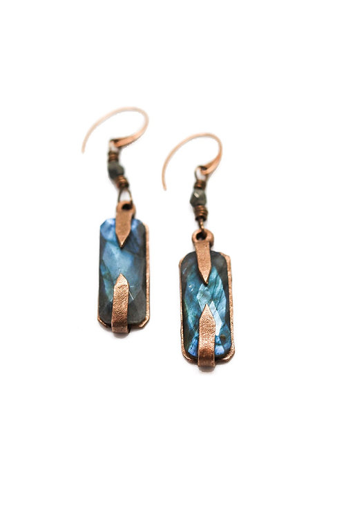 L&K Labradorite Earrings