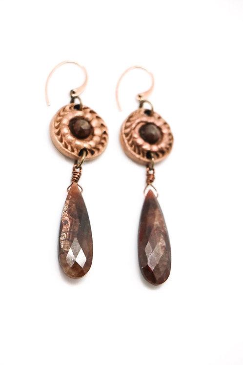 L&K Golden Sapphire Earrings