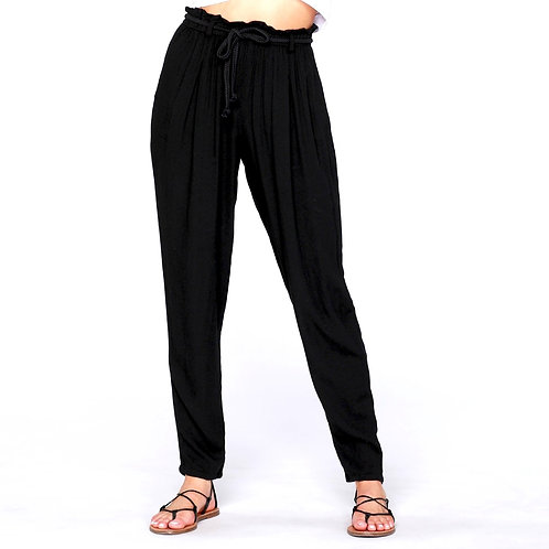 Black Paperbag Pants