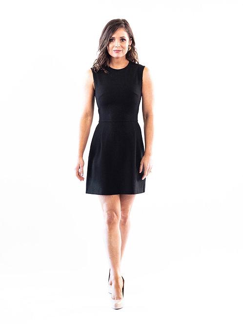 Black Whisper Ruffle Dress
