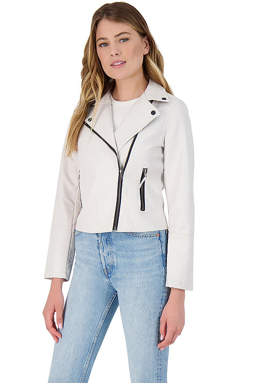 Bone Vegan Leather Jacket