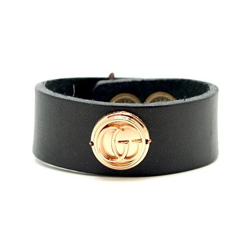 Vintage Gucci Leather Cuff Bracelet