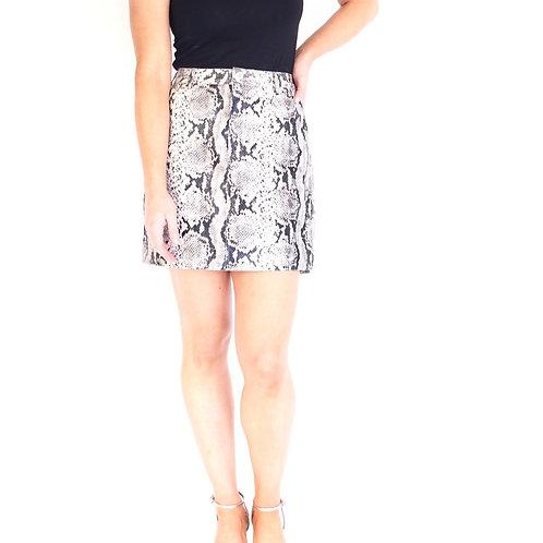Python Vegan Leather Skirt