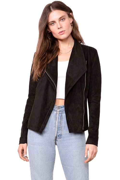 Whatever It Snakes Faux Suede Jacket