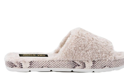 Mochi Off White Slippers