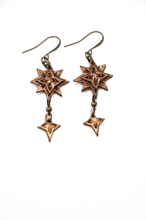 L&K Dolores Costello Bronze Earrings