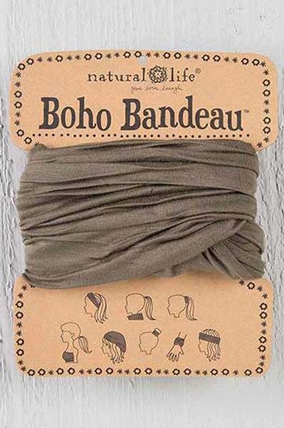 Olive Tonal Tie-Dye Boho Bandeau