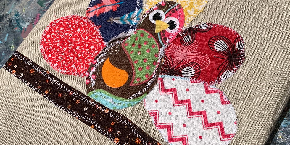 Turkey Tea Towel Sewing Event for kids