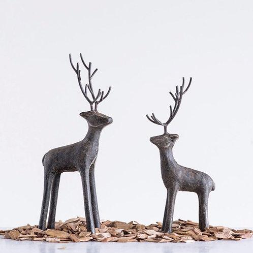 Cast Iron Standing Deer large