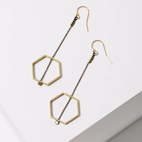 Larissa Loden Jewelry - Horizon Hexagon Earrings