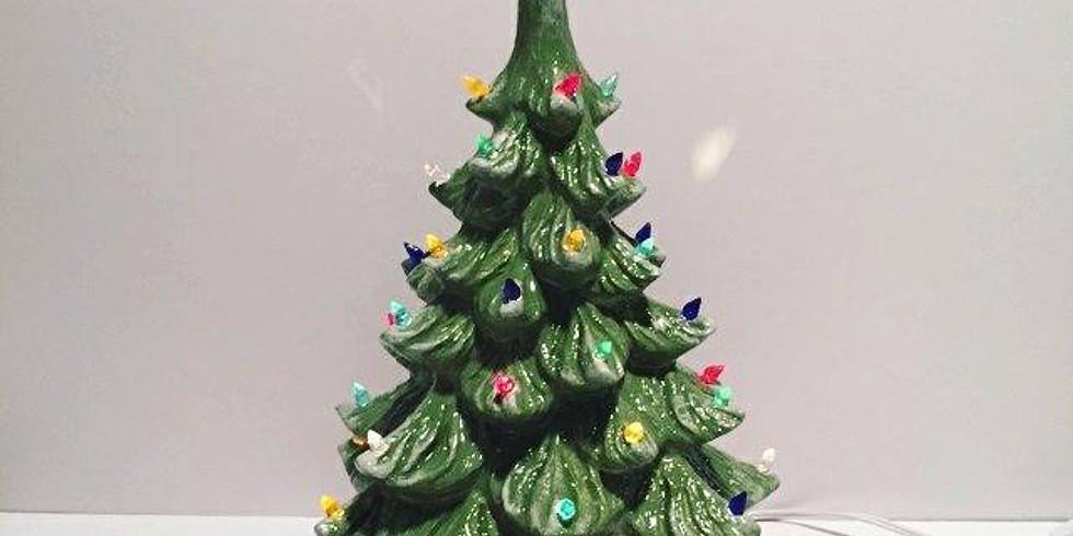 Ceramic Christmas Tree painting