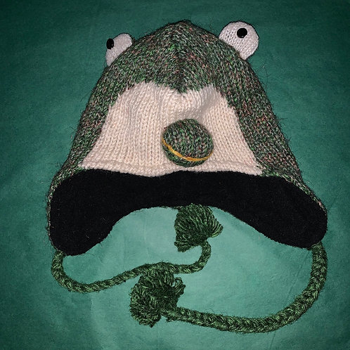 Knit Animal Hat Frog