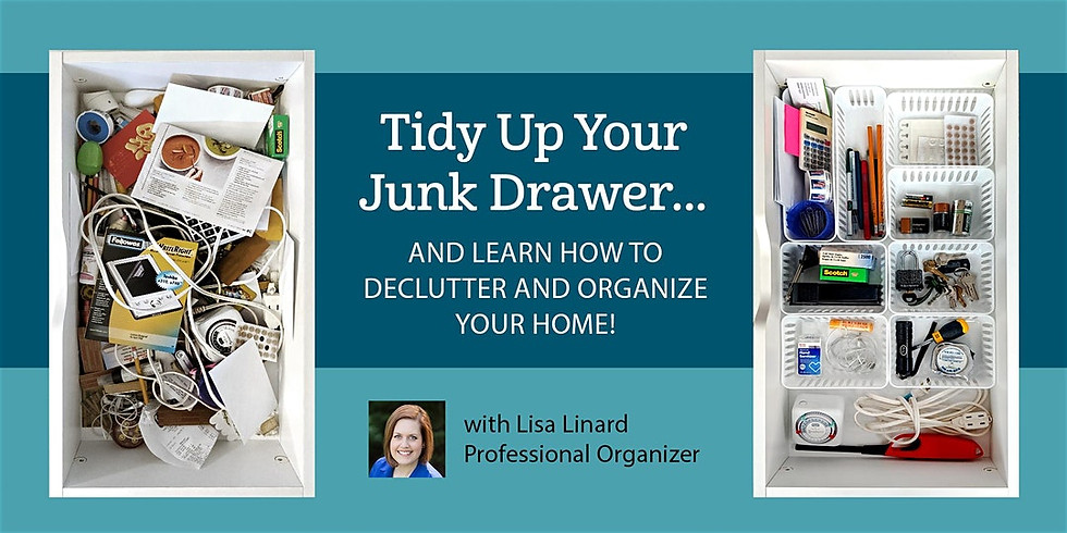 Tidy Up Your Junk Drawer! Learn to declutter & organize with Lisa Linard
