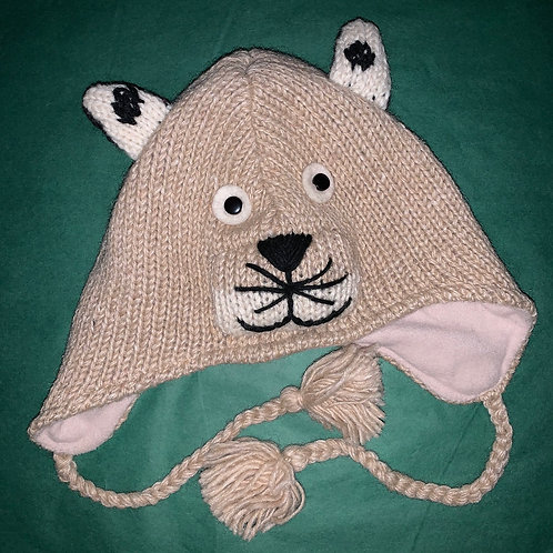 Knit Animal Hat Tiger