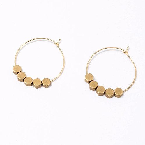 Larissa Loden Jewelry - Greta Earrings Hexagon