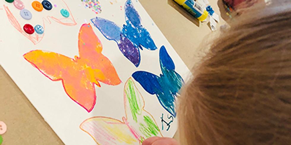 Be Creative child/caregiver Class tuesday